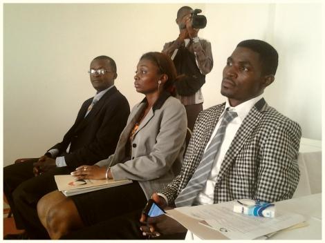 Jean, Frieda et Roger les lauréats du programme de parrainage des jeunes entrepreneurs camerounais 2011 et 2012 qui ont eu un coup de foudre pour Bordeaux