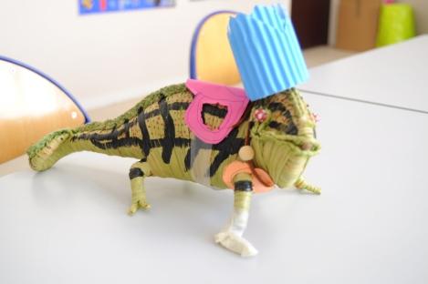 La mascotte : le caméléon Pégasus